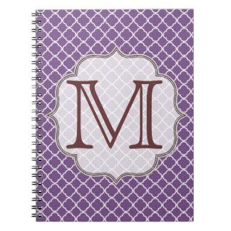 Cuaderno del monograma de Quaterfoil Latti de la