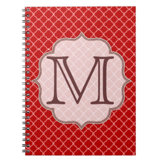 Cuaderno del monograma de Quaterfoil Latti del