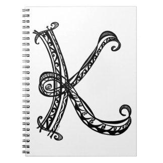 Cuaderno del monograma K