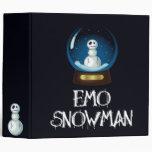 cuaderno del muñeco de nieve del emo