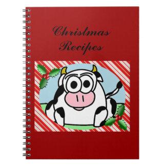 Cuaderno del navidad de la vaca de Carla libro de