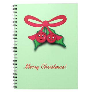 Cuaderno del navidad del muérdago