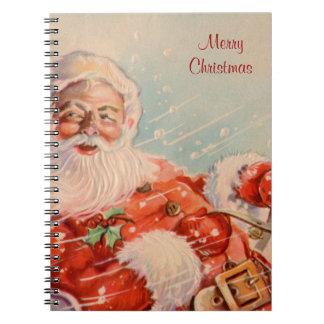 Cuaderno del navidad del vintage del paseo del tri
