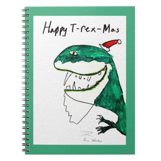 Cuaderno del navidad T-Rex-Mas