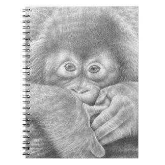 Cuaderno del orangután del bebé