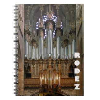 Cuaderno del órgano de la catedral de Rodez