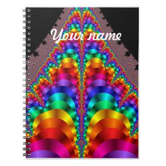 Cuaderno del orgullo gay LGBT del arco iris del