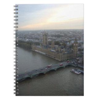 Cuaderno del paisaje urbano de Londres