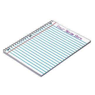 Cuaderno del papel de hojas intercambiables