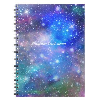Cuaderno del papel del diario del espacio de la
