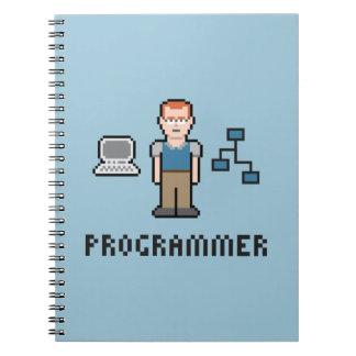 Cuaderno del papel del programador del pixel