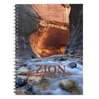 Cuaderno del parque nacional de Zion, estrechos de