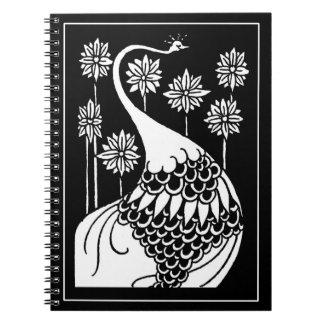 Cuaderno del pavo real de Beardsley Nouveau