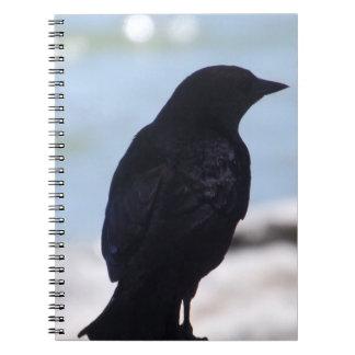 Cuaderno del perfil del cuervo