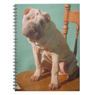 Cuaderno del perro de Shar-Pei del chino