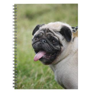 Cuaderno del perro del barro amasado, foto linda
