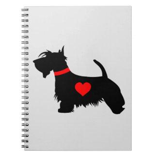 Cuaderno del perro del escocés