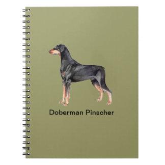 Cuaderno del perro del Pinscher del Doberman
