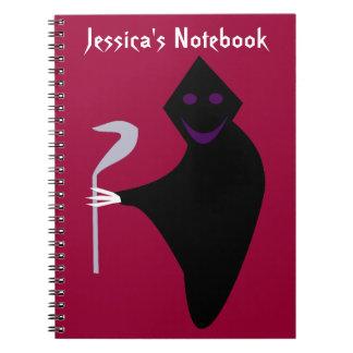 Cuaderno del personalizable de Halloween del parca