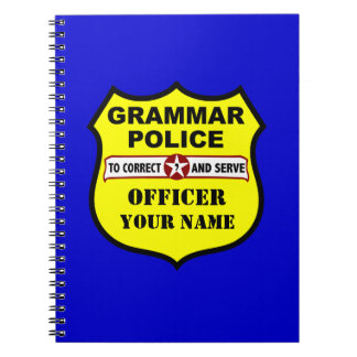 Cuaderno del personalizable de la policía de la gr