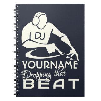Cuaderno del personalizado de DJ