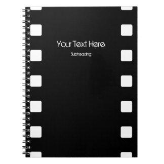 Cuaderno del personalizado de la tira de la pelícu