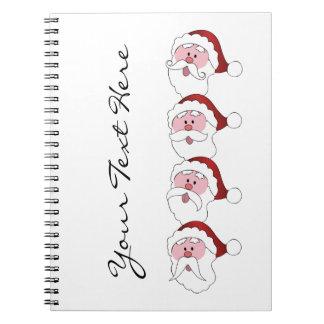 Cuaderno del personalizado de los bigotes de Santa