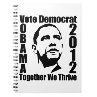 Cuaderno del personalizado de OBAMA 2012