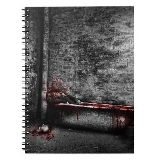 Cuaderno del personalizado del baño de sangre