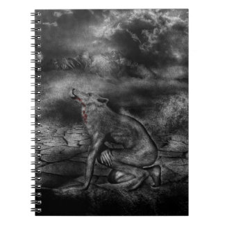 Cuaderno del personalizado del hombre lobo