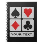 Cuaderno del personalizado del jugador de tarjeta