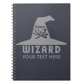 Cuaderno del personalizado del mago de la ciencia