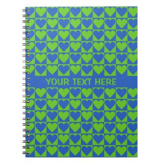 Cuaderno del personalizado del modelo del corazón