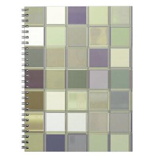 Cuaderno del personalizado del mosaico de las teja