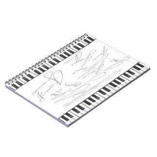 Cuaderno del piano de la firma de JONNI
