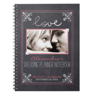 Cuaderno del planificador del boda de la novia de