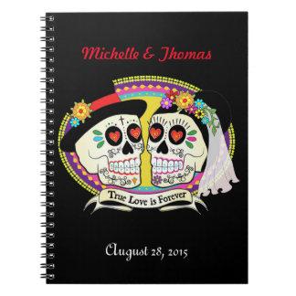 Cuaderno del planificador del boda del cráneo del