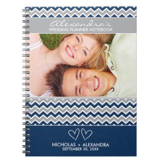 Cuaderno del planificador del boda del modelo de