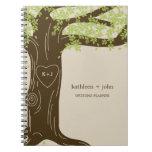 Cuaderno del planificador del boda del roble - ver