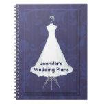 Cuaderno del planificador del boda del vestido nup