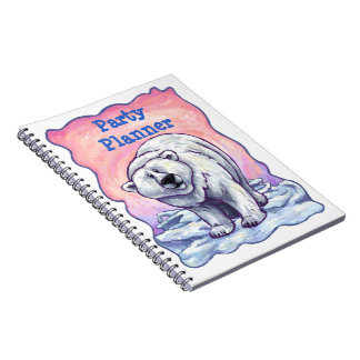 Cuaderno del planificador del fiesta del oso polar