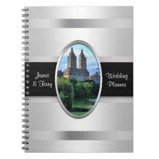 Cuaderno del planificador del lago central Park,