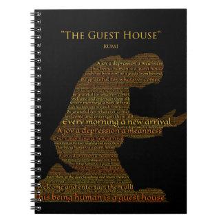 """Cuaderno del poema """"de la pensión"""" de Rumi"""