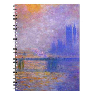Cuaderno del puente cruzado de Monet Charing