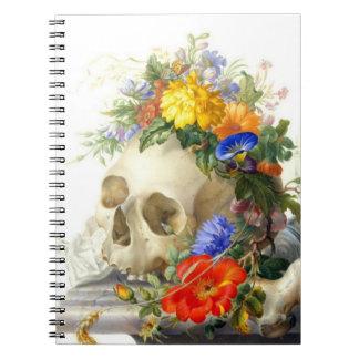 Cuaderno del ramo del cráneo de Vanitas