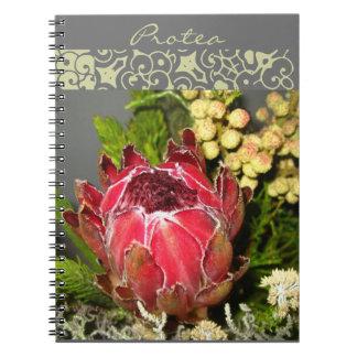 Cuaderno del ramo del Protea