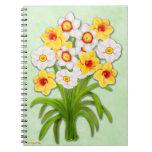 Cuaderno del ramo floral del narciso de la primave