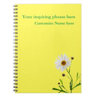 Cuaderno del regalo de la margarita