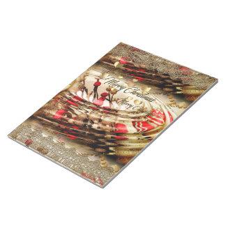 Cuaderno del regalo del navidad bloc de notas