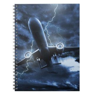 Cuaderno del relámpago del aeroplano